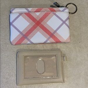 Small zippered wallet.